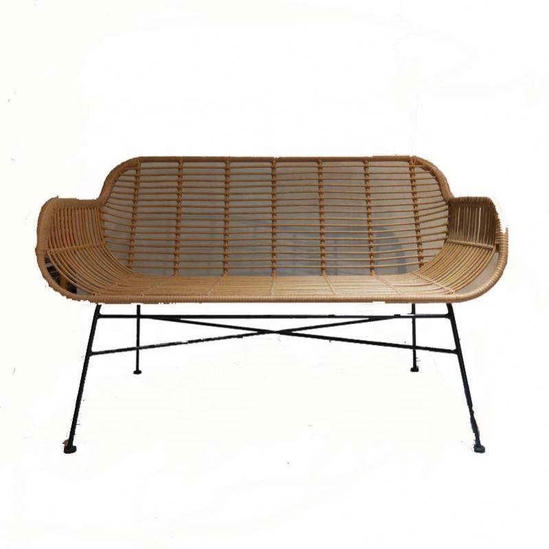 Wicker sofa cushion for mould metal with lounger design wedding rattan chair