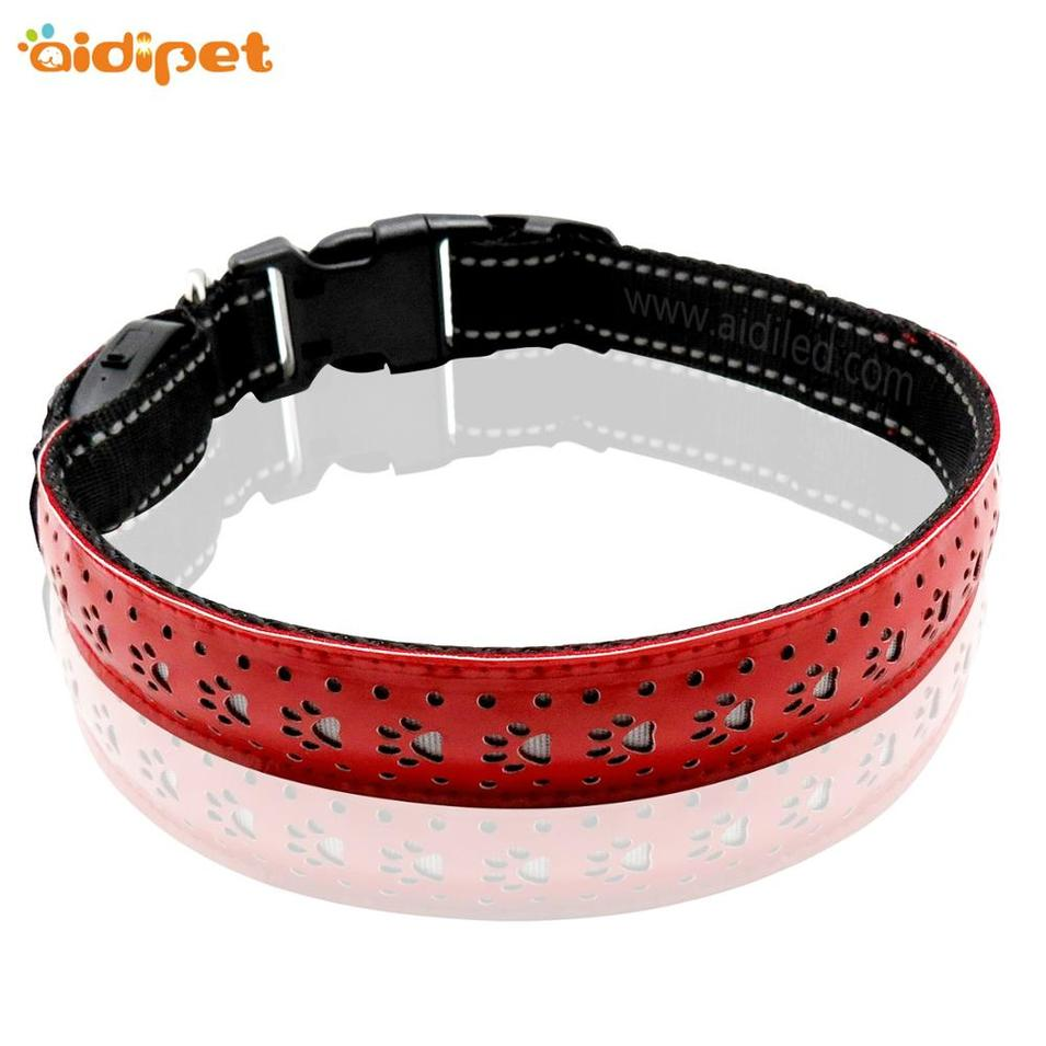 manufacturer wholesale custom rechargeable waterproofled dog collar for pet