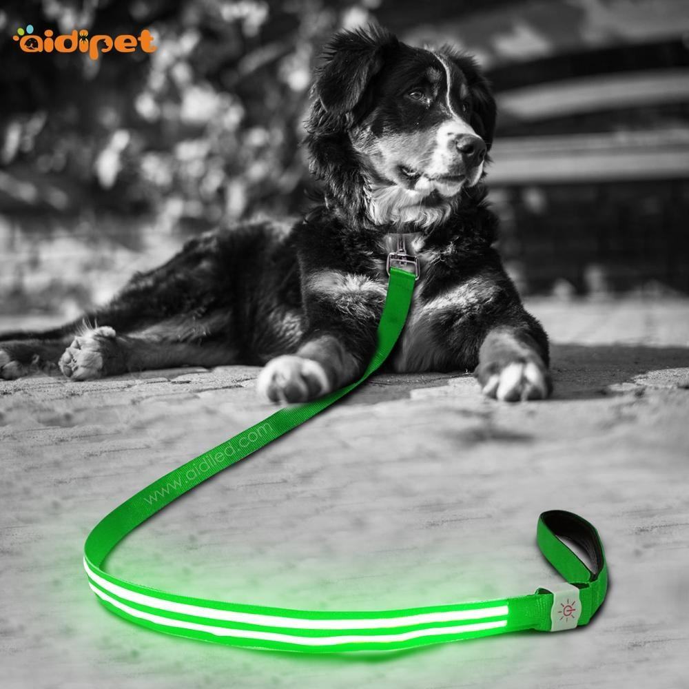 Factory Quality New Trend Led Flashing Dog Collars and Leashes Safety Luminous Leash Lead for Dog Puppy