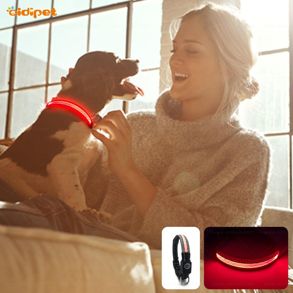 Small Led Dog Collar 1.5cm Width Suits for Small Puppy XXS XS Flashing Light Pet Collar Night Safety USB Led Dog Necklace