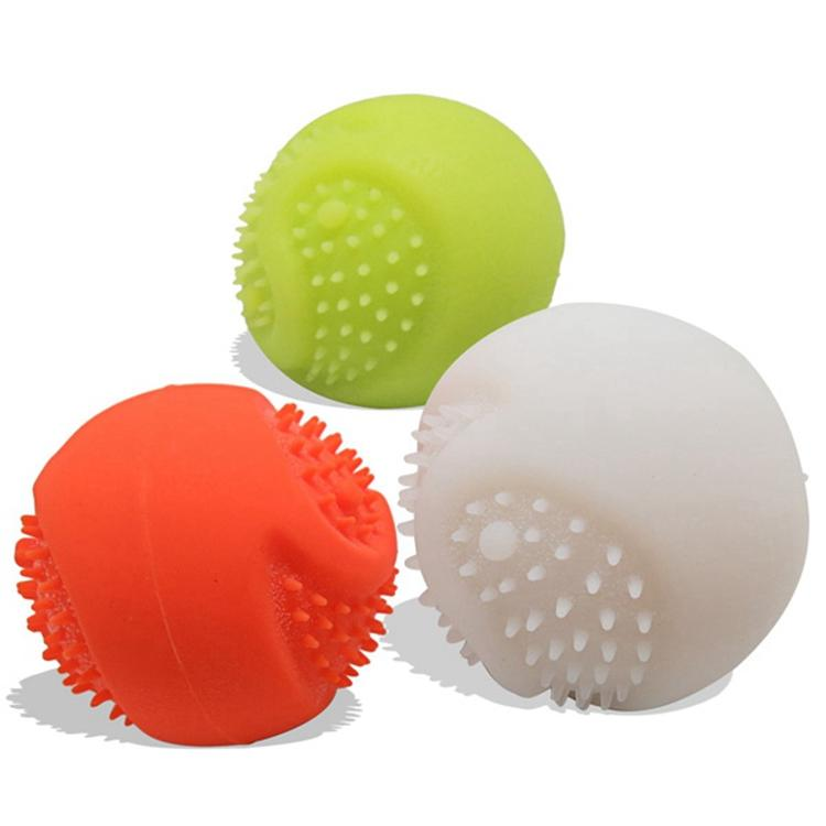 2017 Pet Play LED Dog Ball Toys - Motion Activated - Made of Food Degree Silicone - USB Rechargeable
