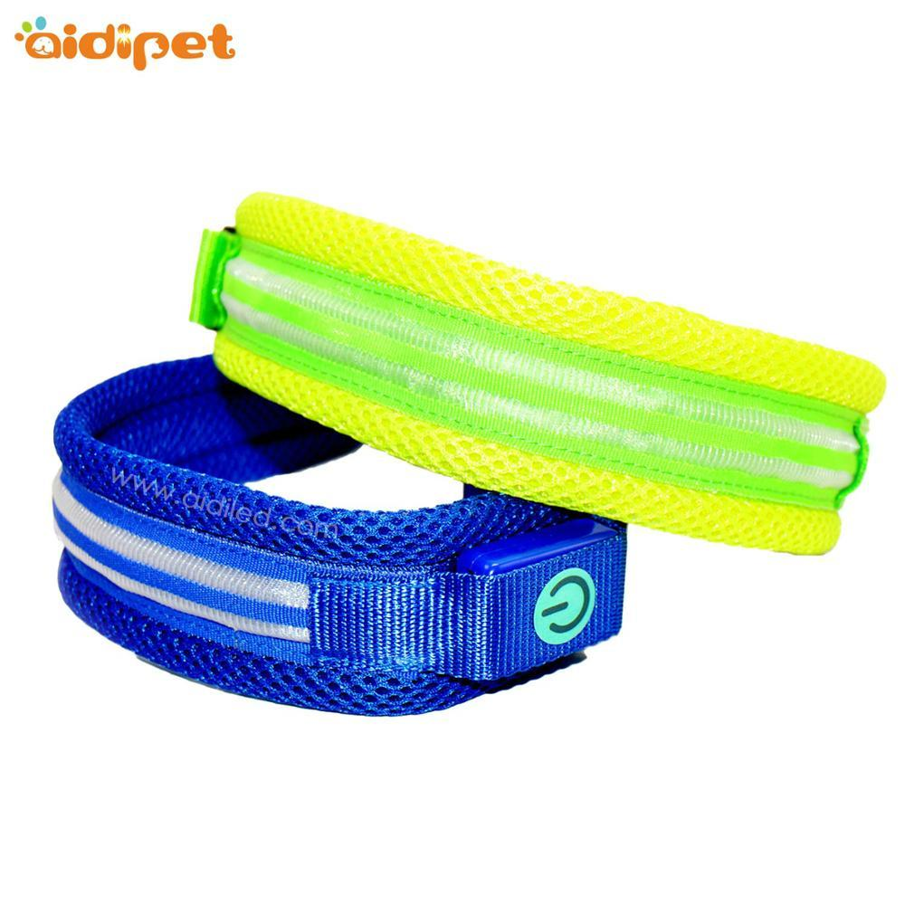 Hot sale wholesale Padded Adjustable Pet Led Collar Soft Wearing Anti-losting Flashing Luminous Dog Collar