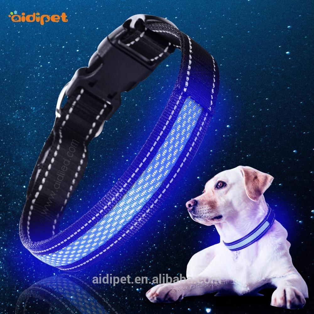 Wholesale New Style Fashion Dog Led Collar, Led Dog Collar USB Rechargeable