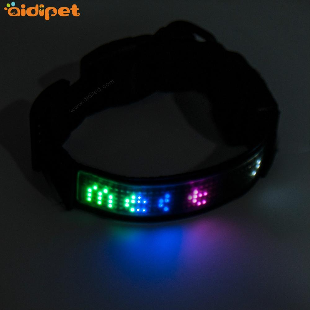 Custom New Style Personalized led Dog Collar and Leash for training
