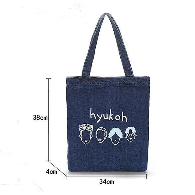 Osgoodway Wholesale Women girl canvas shoulder cotton casual bag handbags Denim Tote Bags