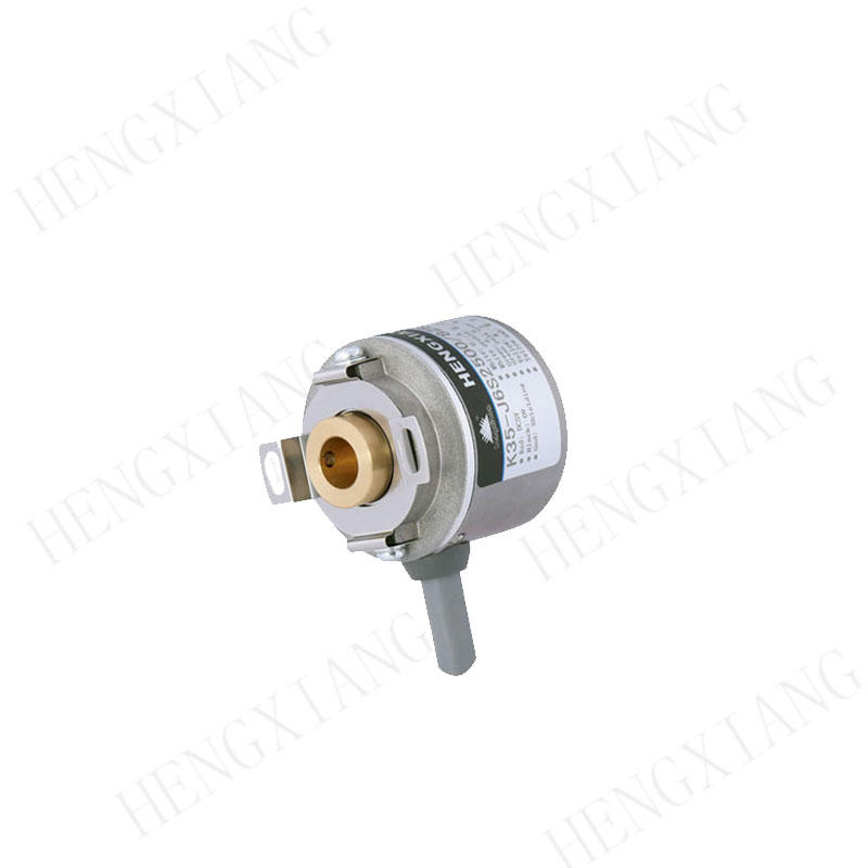 K35 equivalent Miniature Incremental Encoder With Hubshaft and Tether lhe-030-2500 for simplified installation