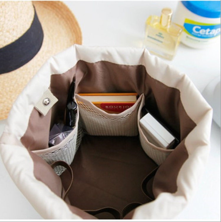 product-Osgoodway-Osgoodway2 Soft Travel Make up Bag Waterproof Folded Cylinder Drawstring Cosmetic