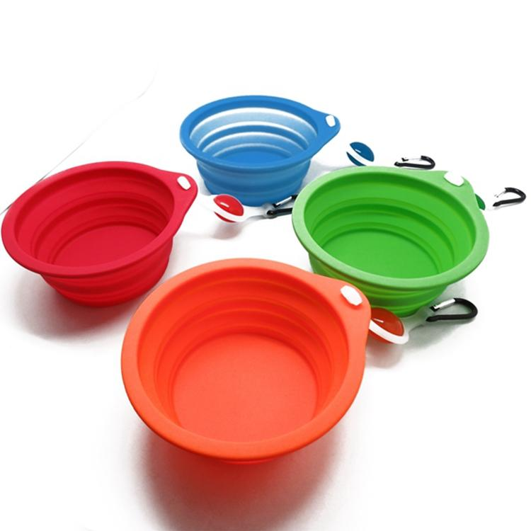 Supreme Dog Bowl with Clip on Light Travel Dog Ball to Eat Drink Foldable Pet Bowl