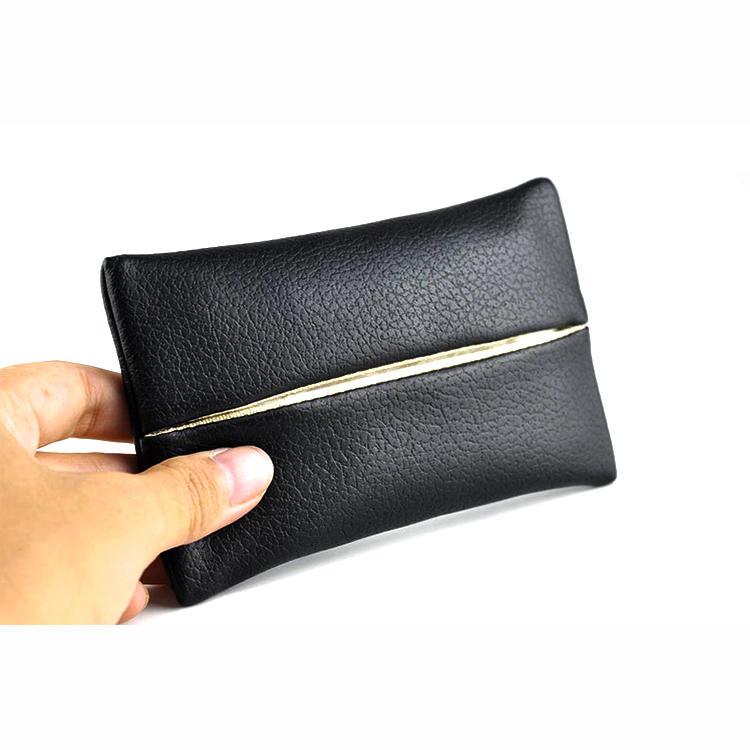 Custom PU Leather Tissue Bag travel tissue case