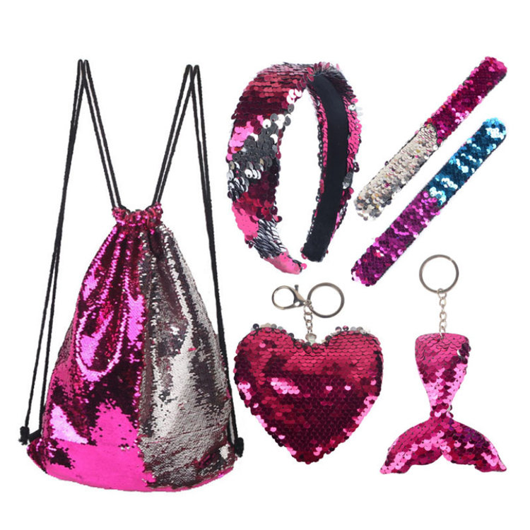 Osgoodway2 Glitter Drawstring Gym Bag Backpack Cute Gift Set Bags Children Christmas Drawstring Holiday Gift Bags