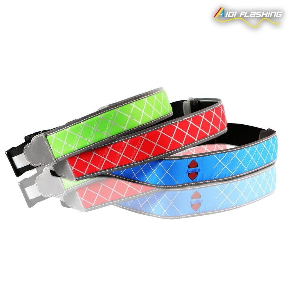 Night Running Safety Belt with LED Light Sports Waist Belt for Safety Warning for Runner