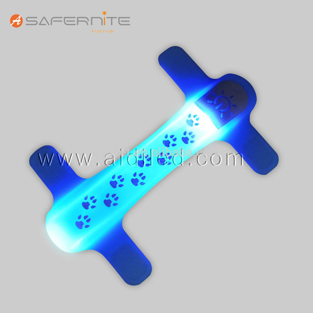 Waterproof Reflective Nylon Led Pet Dog Collar Cover Light Up Pet Accessory