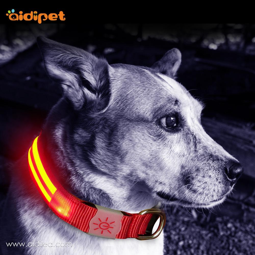 Wholesale Custom Led Portable Fashionable Dog Collar for Pet Dogs