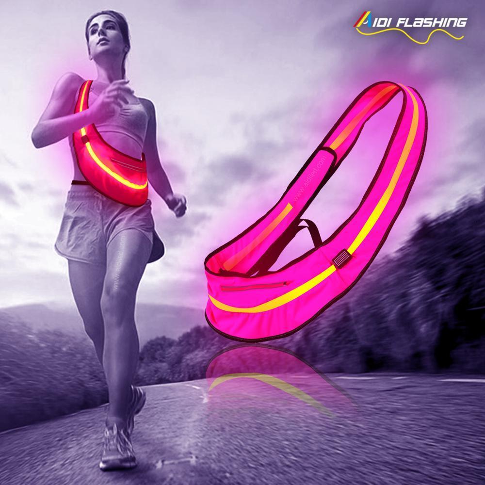 AD-14S USB Recharging LED Sport Waist Bag