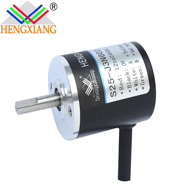 Hengxiang solid shaft encoder gear motor dc with encoder Line driver 24V