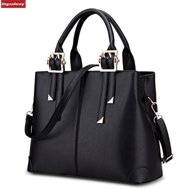 Osgoodway Fashion Vintage Genuine Leather Women Top Handle Handbag Purse Satchel Shoulder Bag