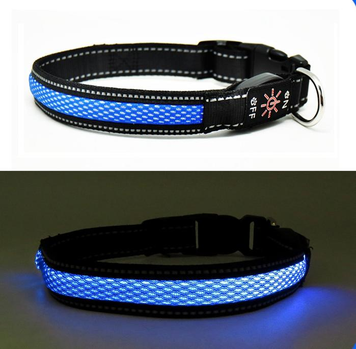 Light up Dog Collar Amazon Top Sell Dog Collar with USB High Quality Pet Supply