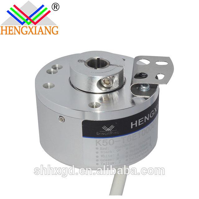 K50 incremental encoder hollow shaft dc geared motor with encoder