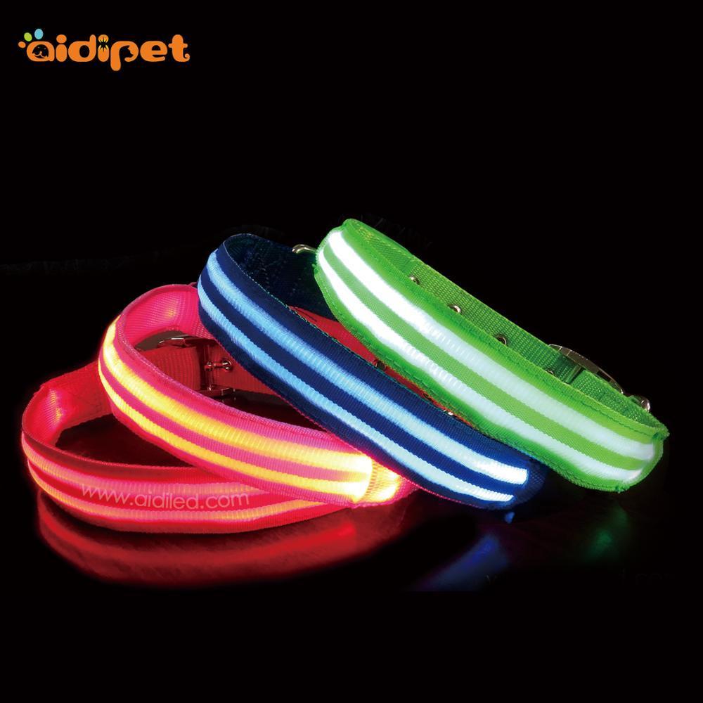 Hot Sale TPU Pet Shiny LED Sport Dog Training Collar