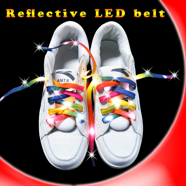 wholesale light up led shoelaces shoe laces flashing for party