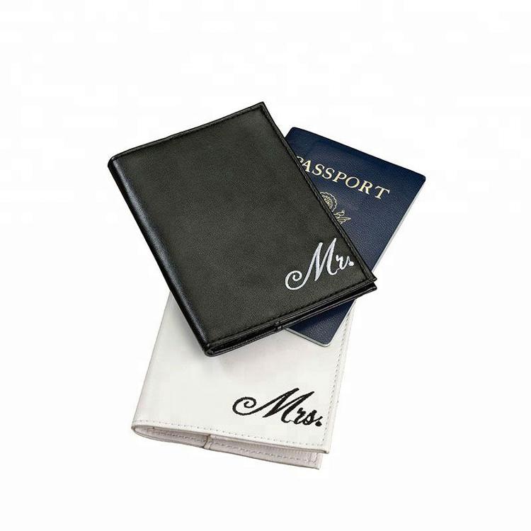 Passport Case Pair of Mr. and Mrs. Passport Covers