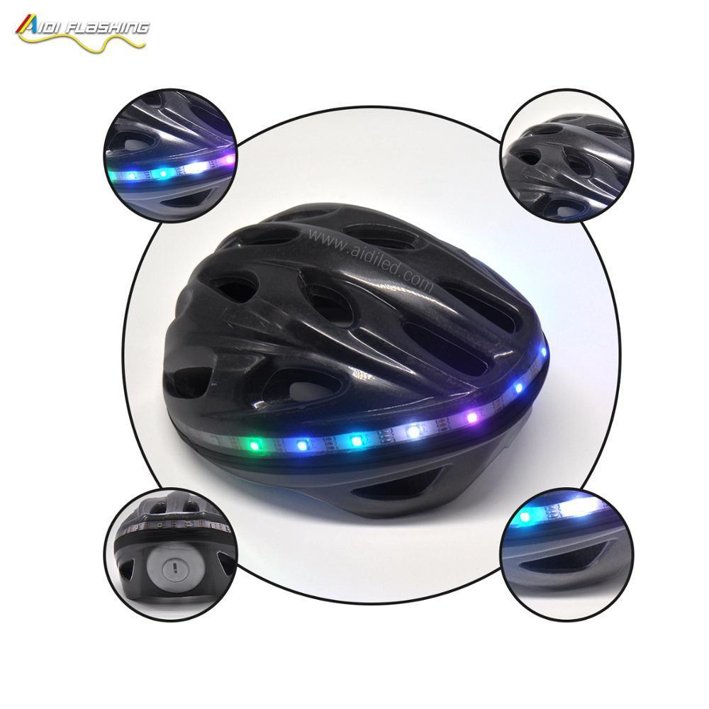 Bike Helmet withColorful steering lightWeight Mountain LEDwarning Helmet Especially fo Night Safety helmet