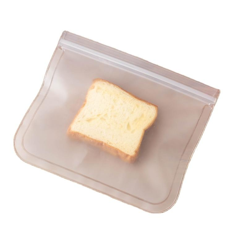Colorful Waterproof Waterproof Recyclable Transparent PEVA Food Storage Sandwich Snack Bag