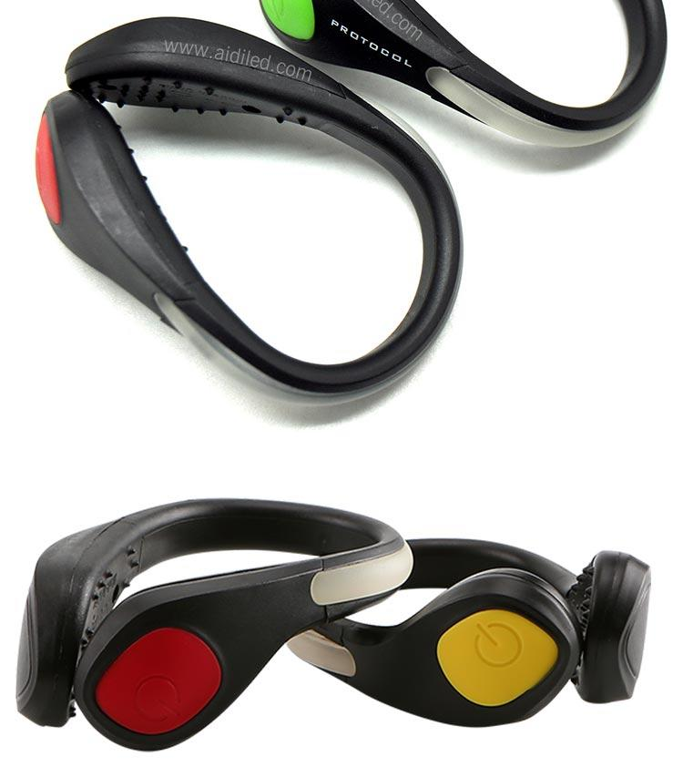 Night Safety Outdoor Sport LED Shoe Clip Light For Running Cycling