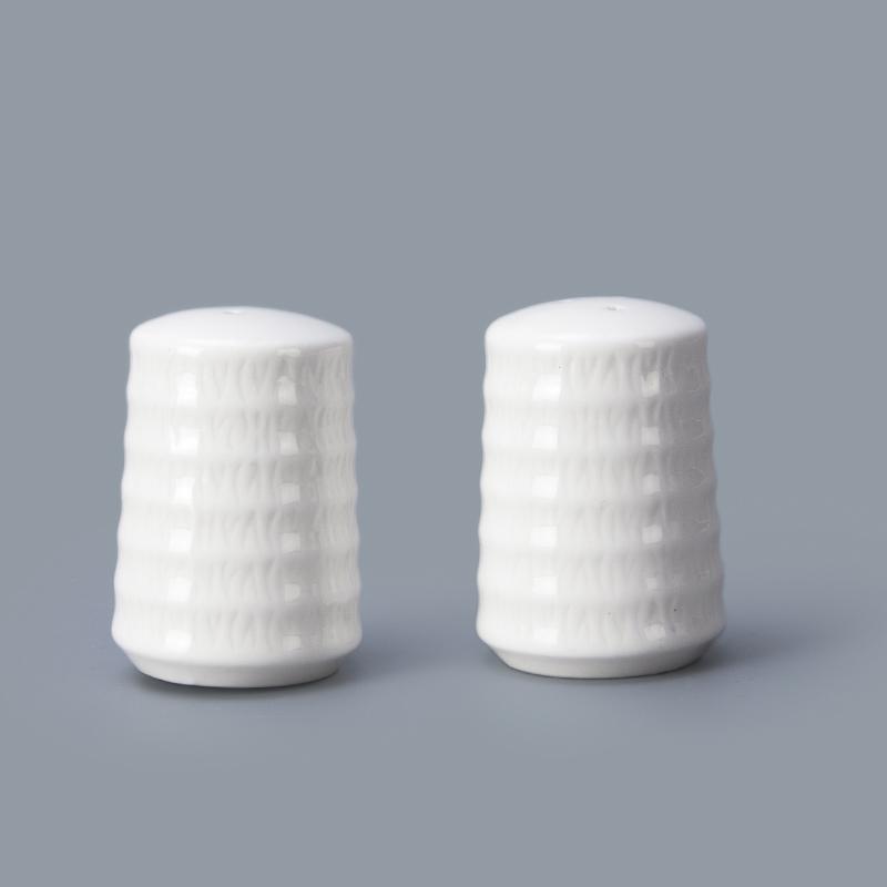 wholesale hotel restaurant bulk salt and pepper shakers ceramic wedding