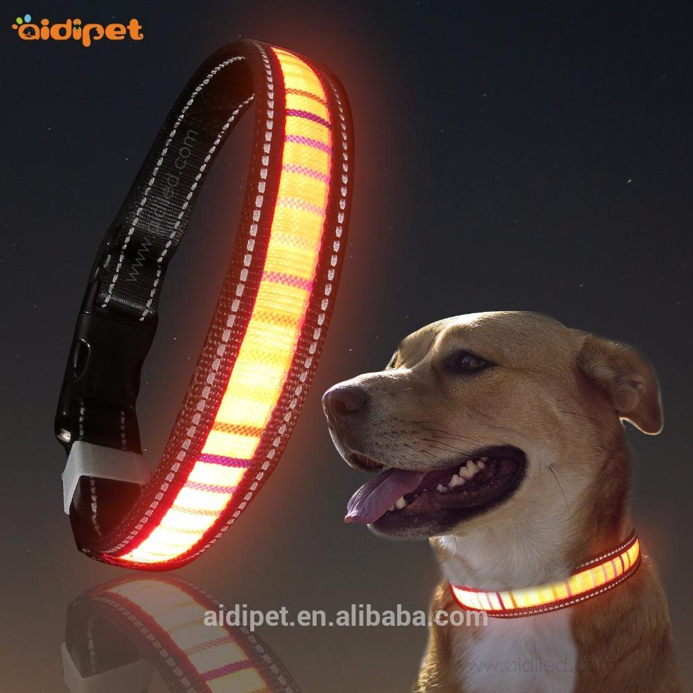 Wholesale Pet Dog Led Collar, Reflective Dog Collar Led Rechargeable