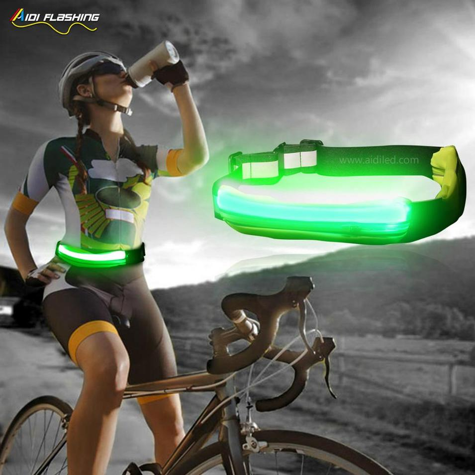hot sale LED light-up fashion running sports waist bag