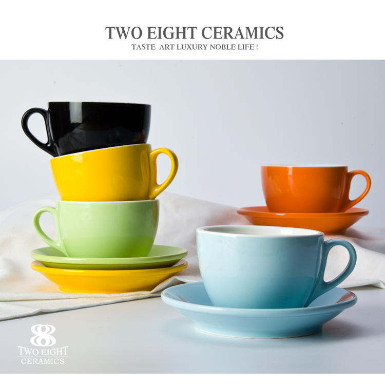 340ml 250ml small espresso cappaccino large tea cup and saucer