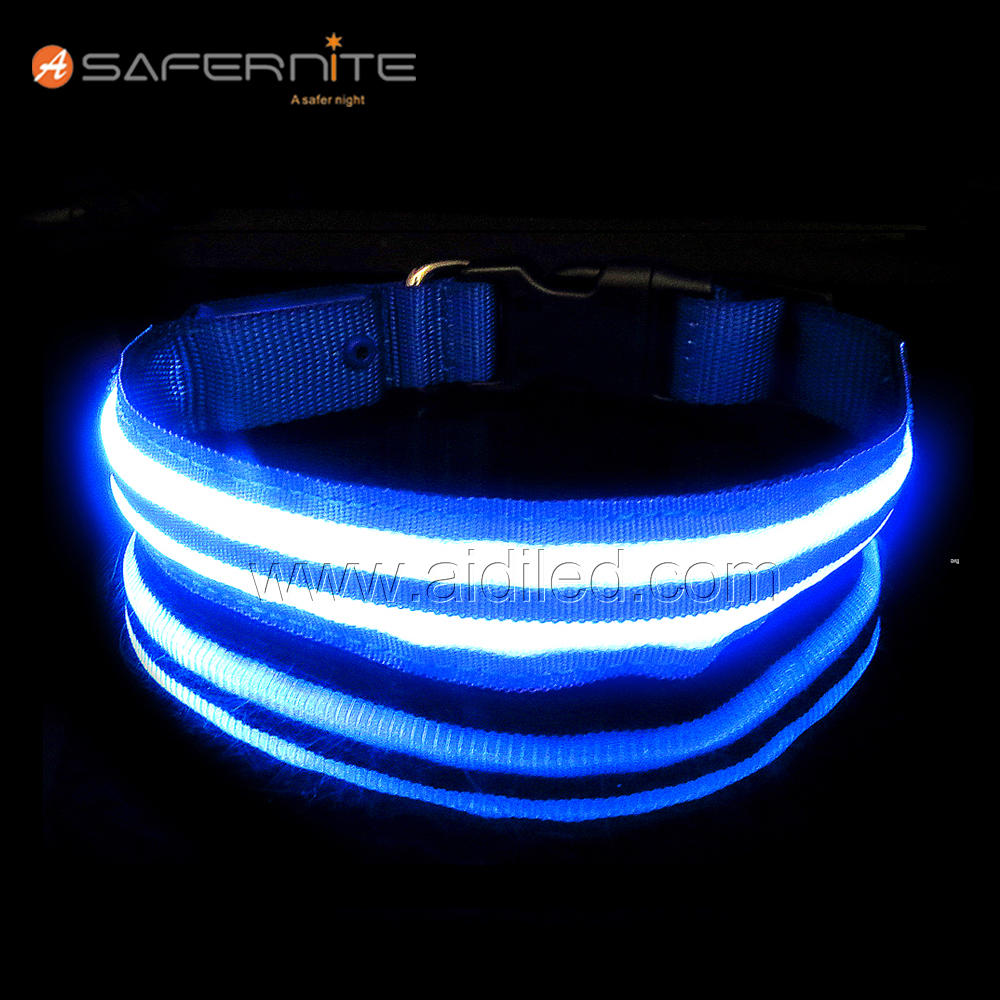 Adjustable Led Dog Collar Waterproof Designed For Bad Weather