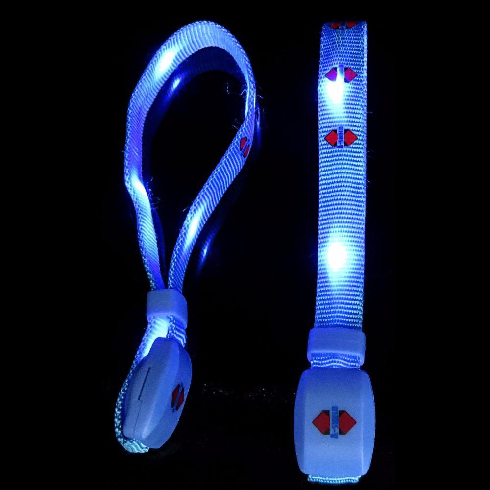 Party and Concert Hot Selling Flashlight Led Bracelet Radio Control Nylon rfid Led Wristband