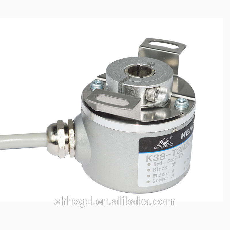 K38 cable length 1000mm shaft diameter 2.55mm 1000ppr DC5-30V define rotary hollow shaft encoder