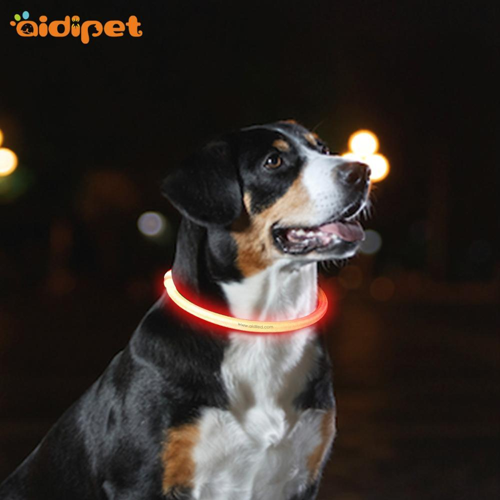 wholesale manufacturer custom outdoor nylon mesh adjustable rechargeable led dog harness