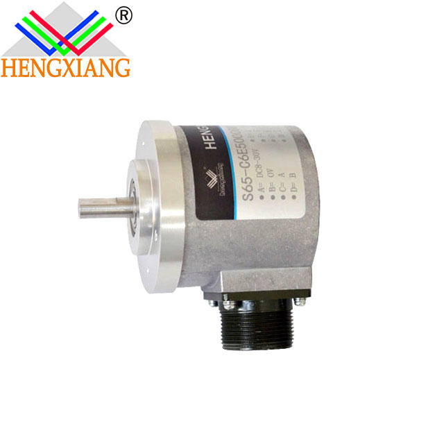 S65 8mm loadcell IP65 push-pull output DC5V UVW solid shaft encoder