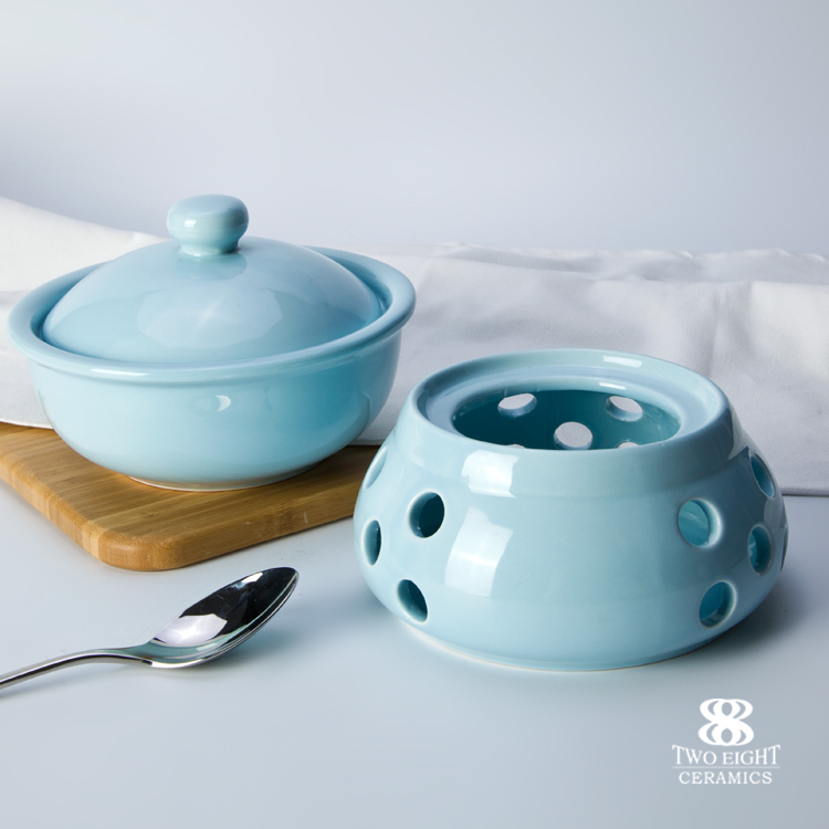 Hot sale hotel&restaurant color stove with lid chaozhou crockery stove with lid Catering porcelain