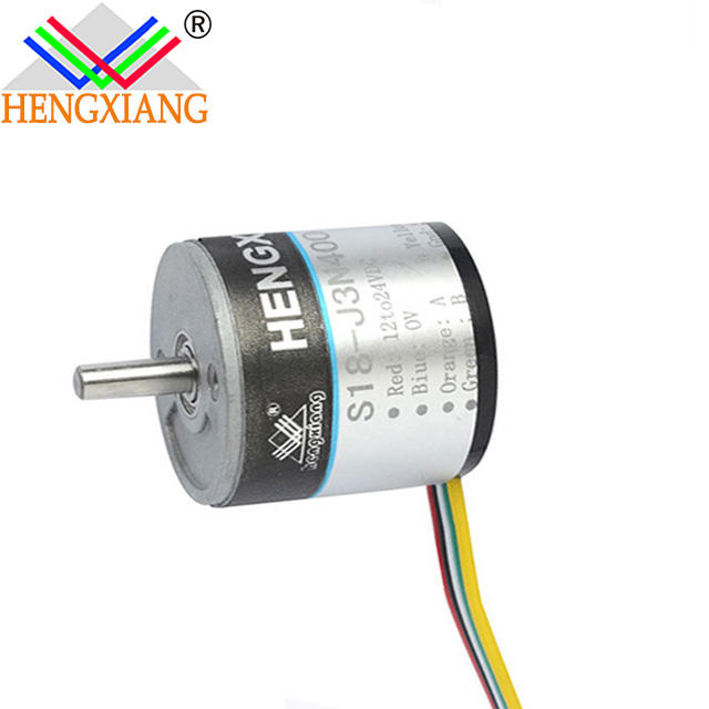 Shanghai encoder factory S18 DC motor with rotary A phase
