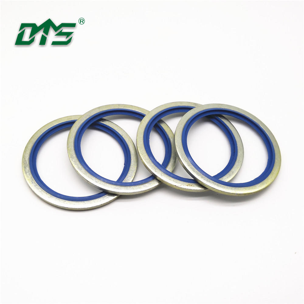 Standard size hydraulic pump rubber NBR+Metal Blue color bonded seal