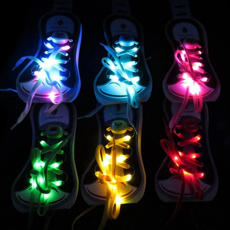China Led Sports Products Supplier Charm Colorful Shoelaces for Party Dancing