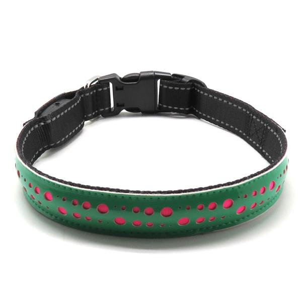Leather Personalized Dog Collars Custom Cat Pet Hollow Printing Collar for Small Medium Large Dogs