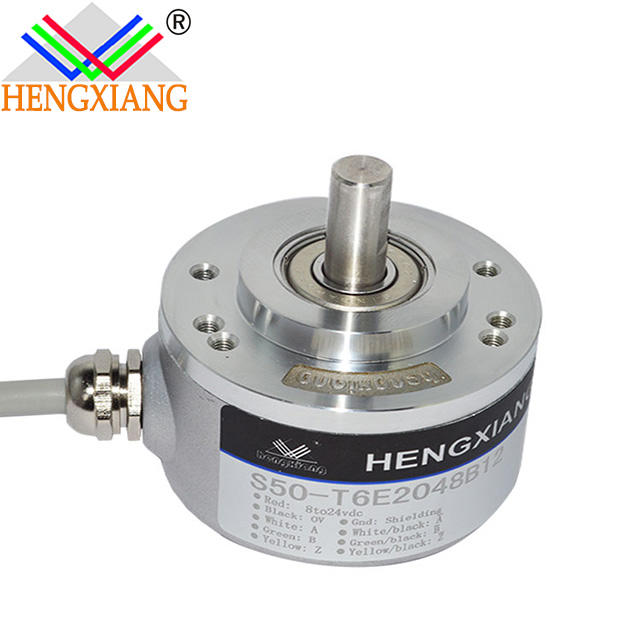 solid shaft 50mm Solid Shaft Rotary 5000 PPR Incremental Optical Encoder E6C2-CWZ3E