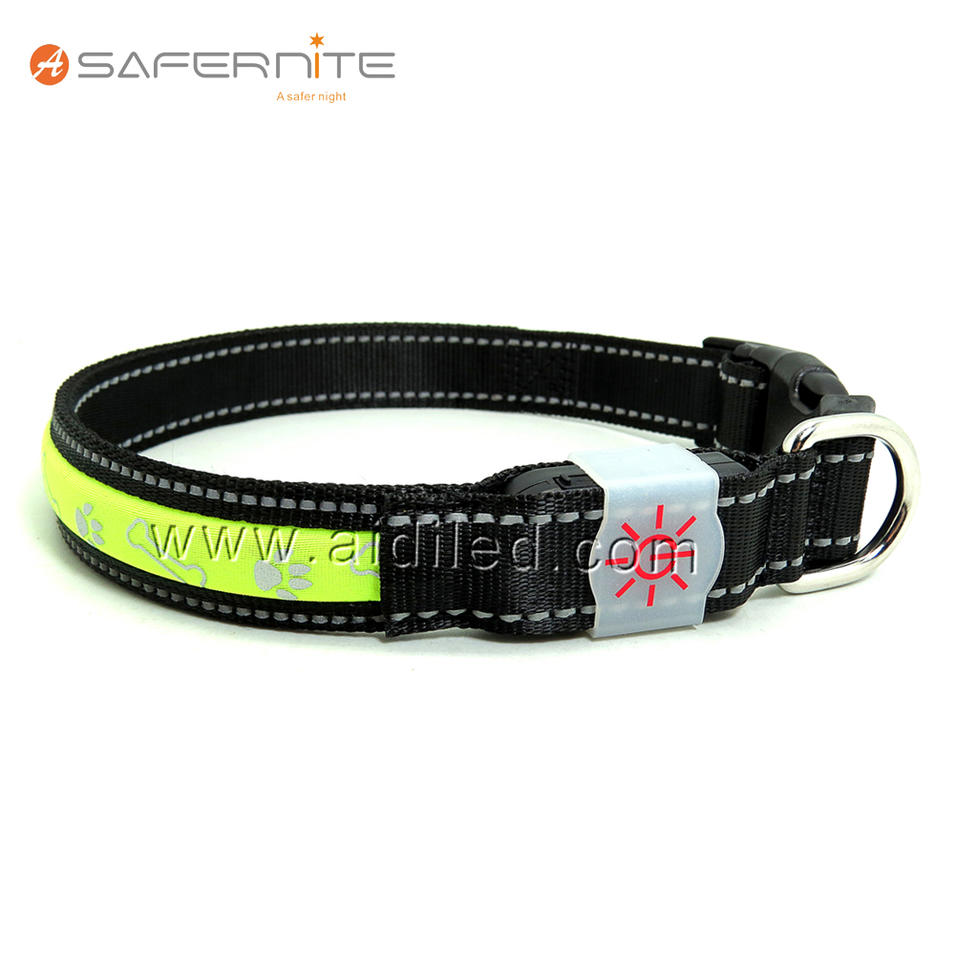 Fashion USB rechargeable Led Dog Collar, IXP4 Waterproof Rating For Bad Weather