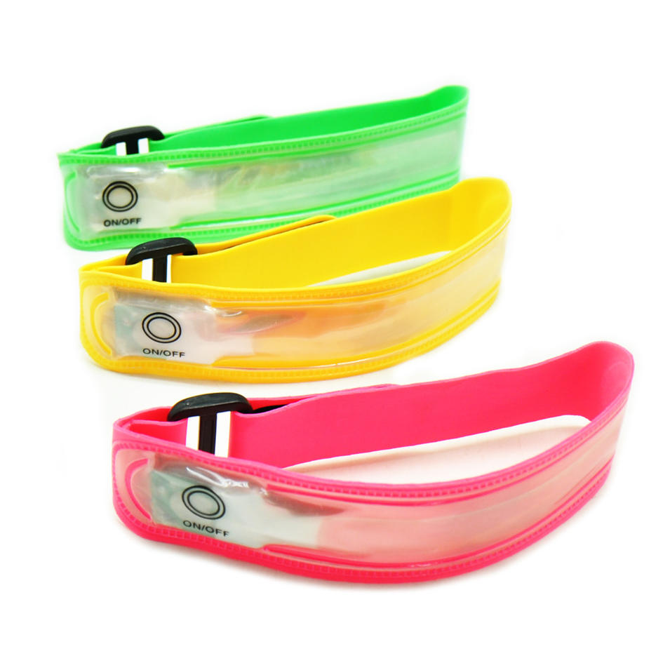 New Arrival Led Armband for Runner Light Weight Lycra Led Running Light Waterproof Safety Arm Band