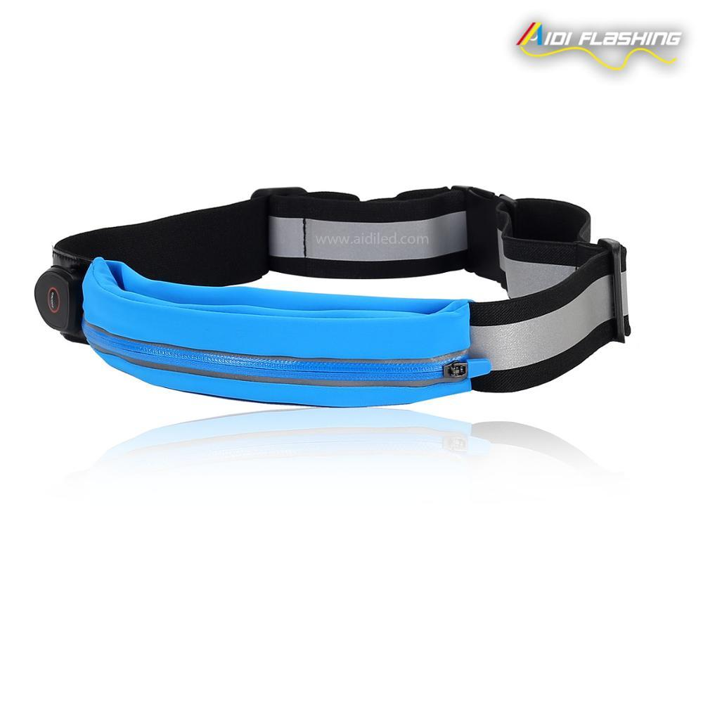 Reflective Waist Bag USB rechargeable High Visibility Safety Gear for Running, Walking & Cycling