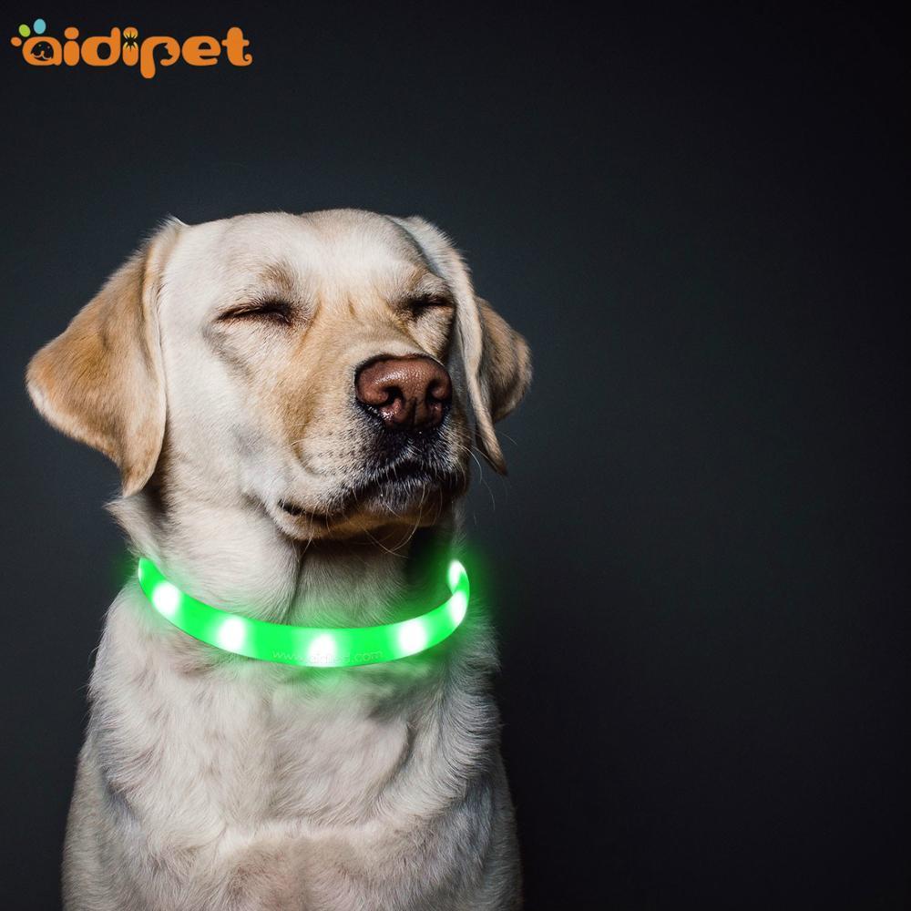 Silicone flashing style Waterproofled dog collar