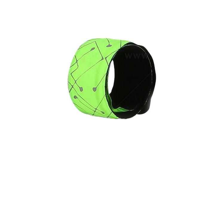 Outdoor Safety Nylon Waterproof LED Reflective Slap Band