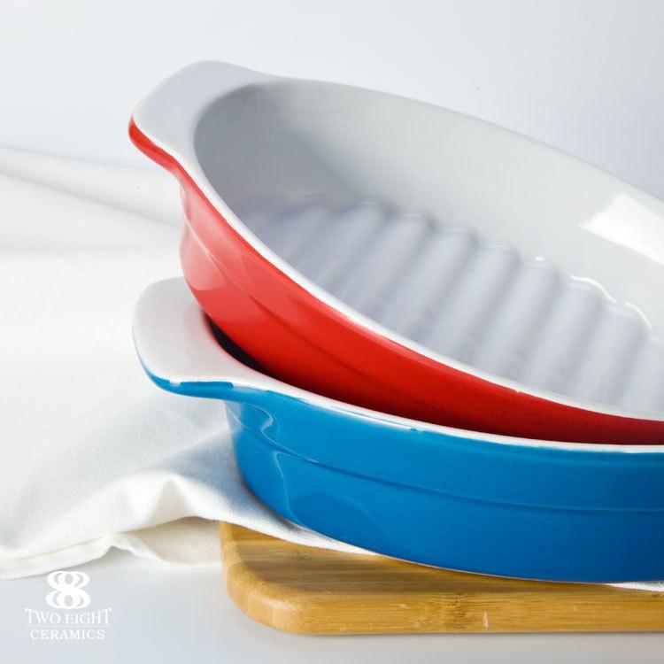 Wholesale Kitchenware chicken baking pan, microwave safe 100% food grade 12