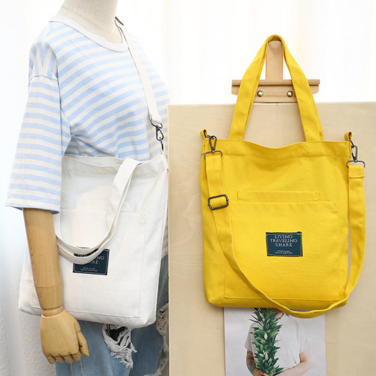 product-Osgoodway-Osgoodway2 Online Hot Selling Yellow Fashion Canvas Shoulder Shopping Bag Handbag